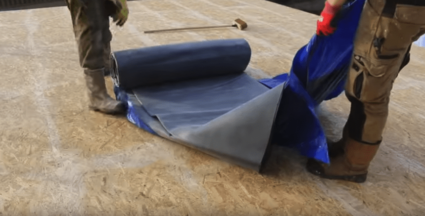 EPDM Flat roof Laying